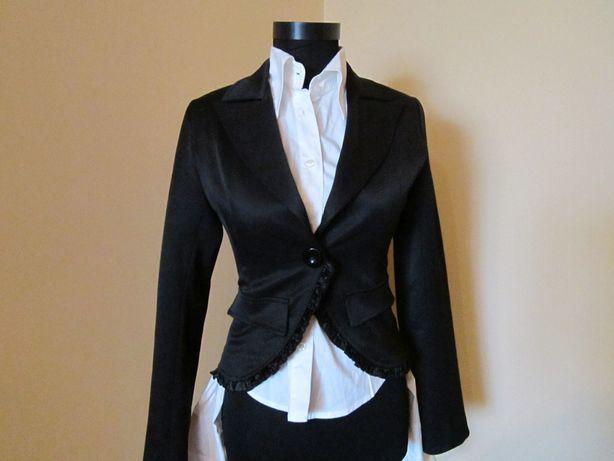 Sacou/jachetă office, stil corset, MEXTON, roz, model catifelat