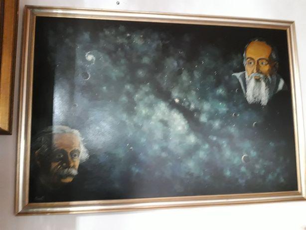 """Tablou ,, Descoperind Spațiul """" Eisntein- Galileo Galilei"""