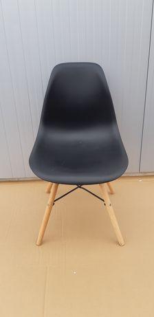 Scaun PVC picioare lemn