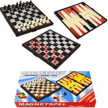 Нова Магнитна игра 3 в 1 /шах, табла и дама/