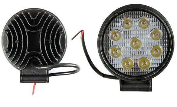 Халоген LED кръгъл работна лампа 27W (3W x 9pcs) 9-32V Кола Мотор АТВ