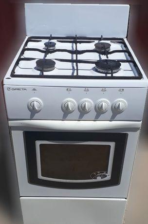 Газовая плита 4-х конфорочная с газовой духовкой