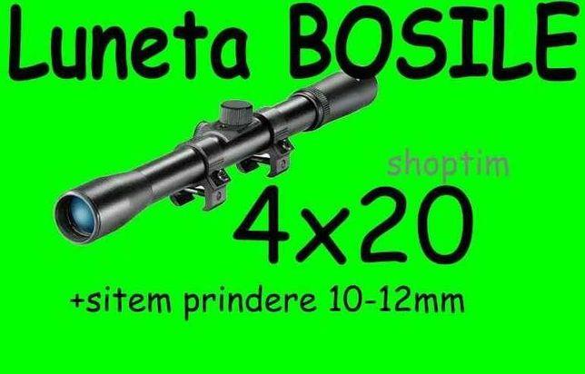 LUNETA metalica Bosile 4X20 Arma Arbaleta Pusca Pistol Airsoft 11mm