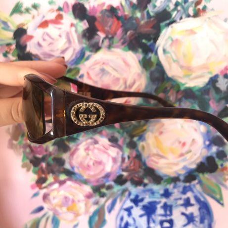 Gucci кафеви дамски очила тип маска