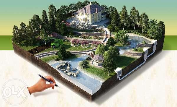 ландшафтный дизайн, озеленение территорий (проектные работы)