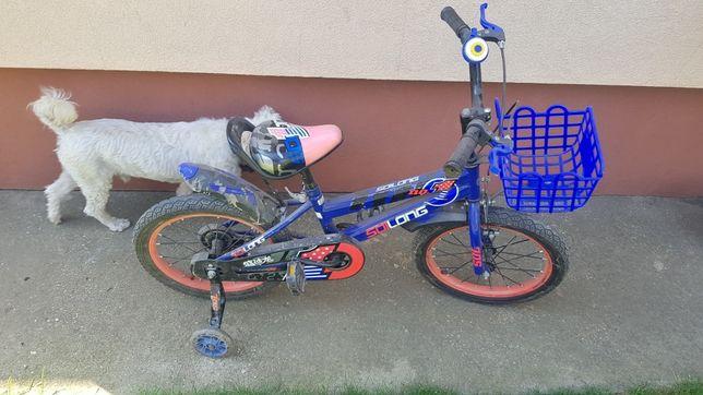 Vand bicicleta cu roti ajutatoare pentru copii
