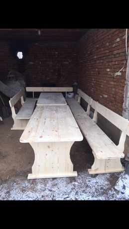 Изработваме масивни маси и пейки на ниски цени !