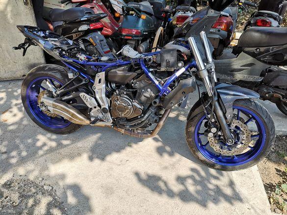 Yamaha mt 07 на части