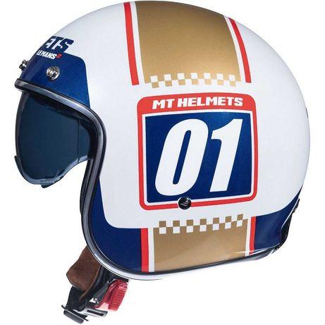 НОВО! Скутерски каски MT Helmets Le Mans различни шарки скутер мотор