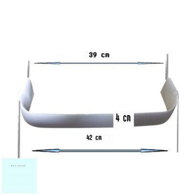 Sina sticle frigider Zanussi ZC 244 R, 42x4x39 cm, 2061953 >PS< 2
