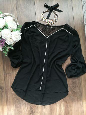 Черна шифонена дамска блуза