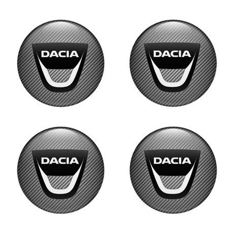 3D Силиконови стикери за капачки на джанти Dacia размери 40-120 мм