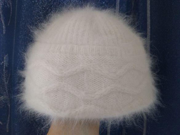 70%ангора 20%wool шапка