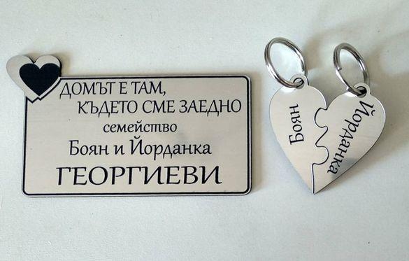 13 лв! промоция табела за врата + 2 ключодържателя