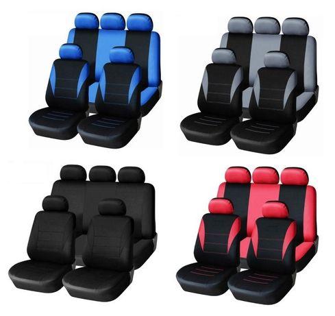 Универсална авто тапицерия ,калъфи за седалки, пълен комплект ,9 части