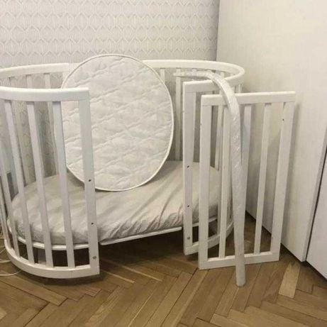 Кроватка-трансформер Ellipsebed (белый)