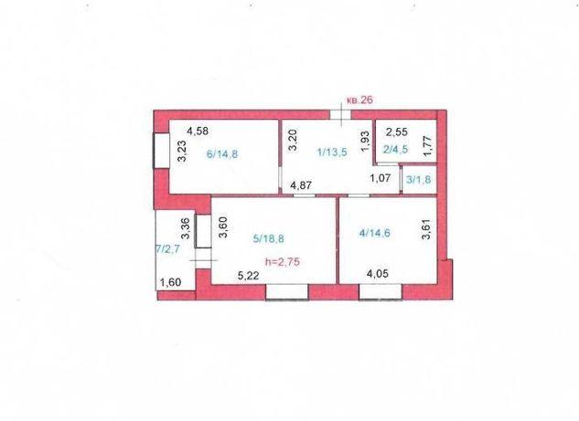 Продам 2-х комнатную квартиру 70,7 м2 в новостройке. Район рынка