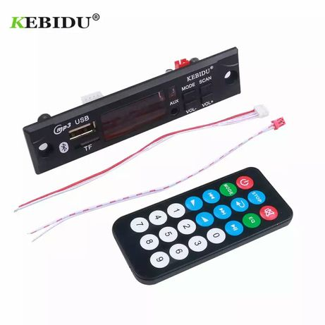12V Aудио модул за вграждане KEBIDU Bluetooth 5.0 Fm /TF card /AUX