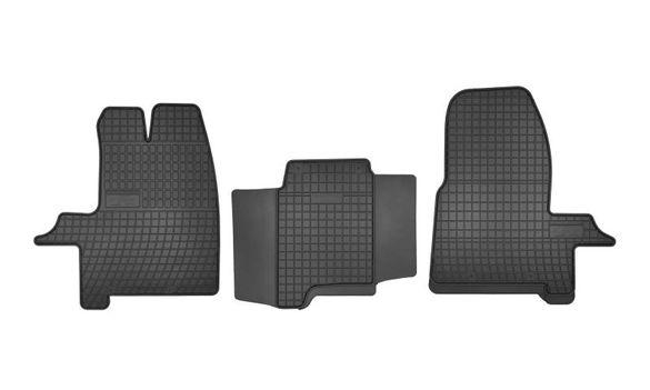 Гумени стелки (гума, 3бр, черен) за FORD TRANSIT CUSTOM след 2012г.