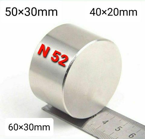 Неодимови магнити N52 / 40×20 / 50×30 / 60×30 и др. Магнитен риболов