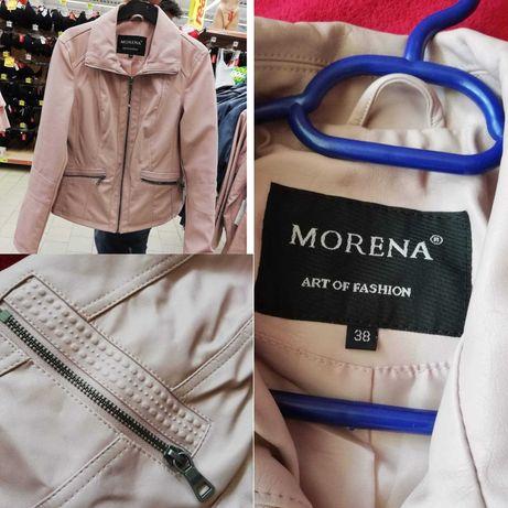 Jachetă imitație piele roz