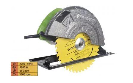 Circular fierastrau electric PROCRAFT KR3000, 3000W,3500 rpm, Garantie