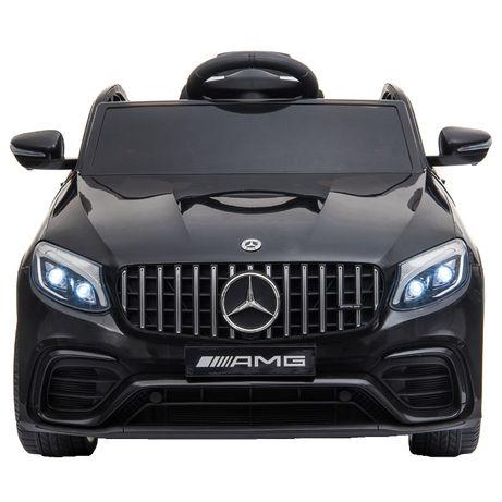Masinuta electrica Mercedes GLC63s 70W 12V cu Scaun Tapitat #Negru