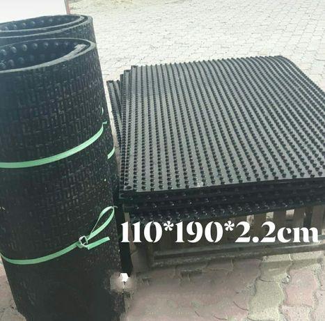 Маты резиновые ( каучук ) для Крс Лежаки