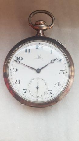 Ceas de buzunar argint Omega.