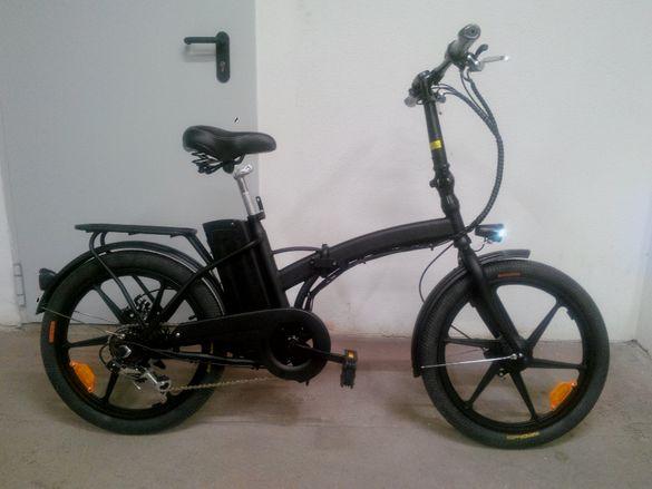 """Мощен , лек и сгъваем Електрически велосипед 20"""" цола"""