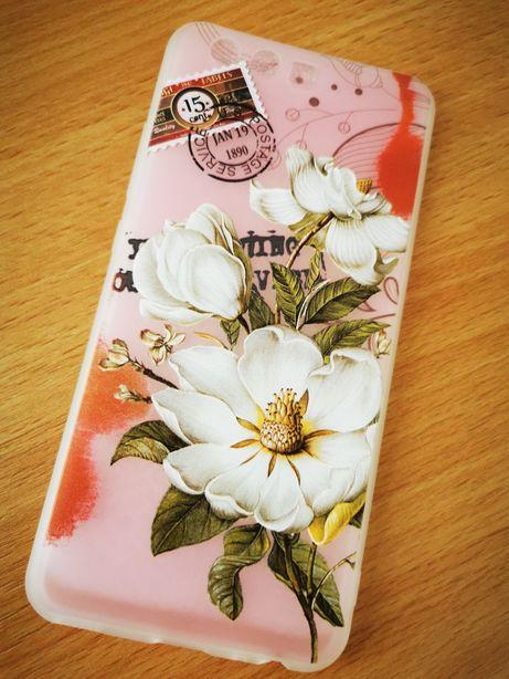 Husa Huawei P10 cu flori în relief, din silicon