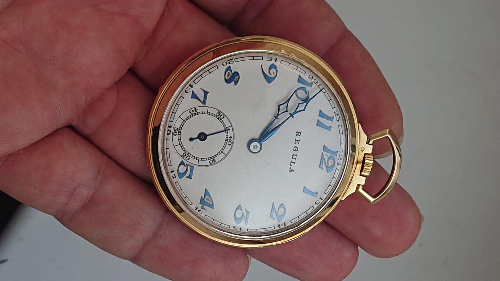 Ceas De Buzunar Elvetian(Swiss) Din Aur 18k,Functional,De Colectie