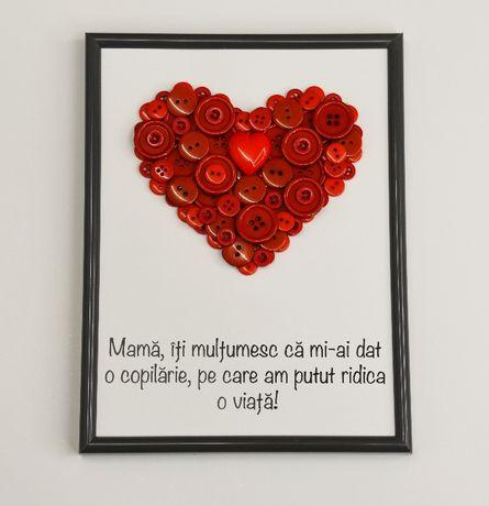 tablou handmade cadou pentru mama, de ziua mamei, mesaj de multumire