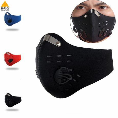Masca anti praf poluare cu filtru bicicleta sport vant alergare