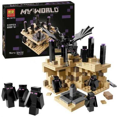 Конструктор Майнкрафт Микро Мир Край 10173 аналог Лего Minecraft 21107