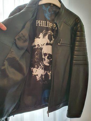 Vând geaca piele barbati Philipp Plein