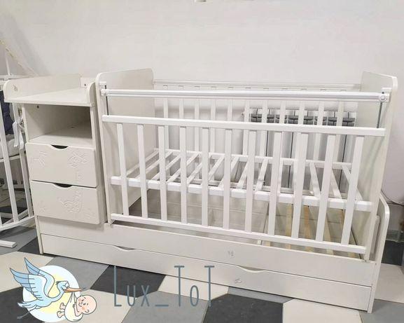 Детская кровать трансформер Жираф