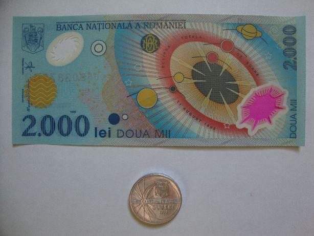 Bancnota si moneda editie limitata din 1999 cu eclipsa