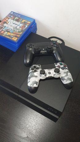 PS4 in stare foarte buna + 2 controllere si jocuri