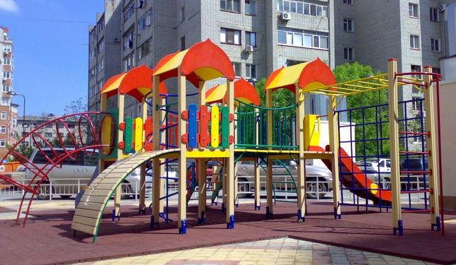 Детская Игровая Площадка, Комплекс Городок (горка, песочница, качели)