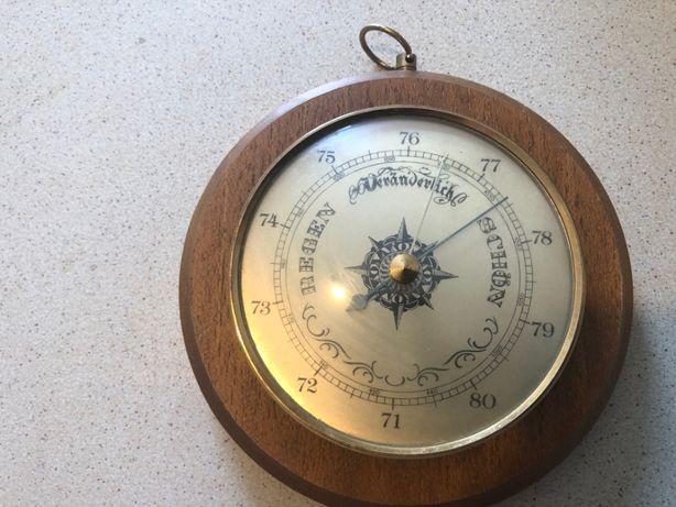 Barometru sferic german,pe suport din lemn