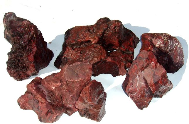 Камни для декора аквариума Красная яшма