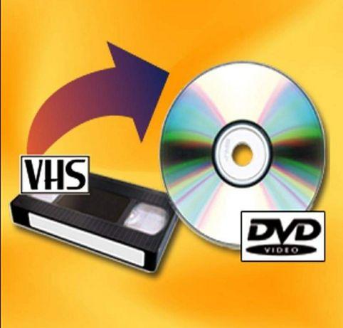 Transfer casete VHS pe DVD sau STICK