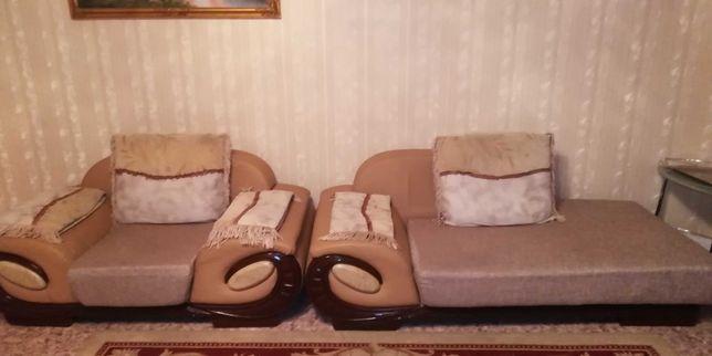 Мягкая мебель (Диван и кресло)
