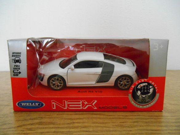 Продавам модел Audi R8 Coupе Welly, серия 1:34-1:39