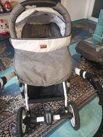 Căruț 3 piese ofer și leagan pentru bebeluși pana la 9 kg