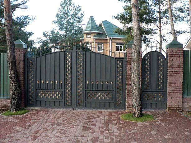 ИЗГОТОВЛЕНИЕ: Ворот, Забора, будки охранника, перила любой сложности