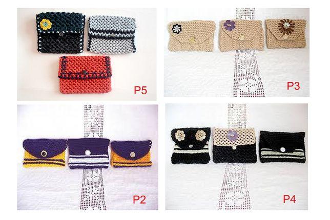 Portofele tricotate manual pentru monede