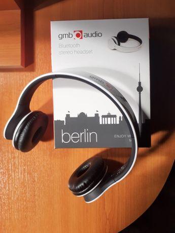 Vand Casti cu microfon bluetooth stereo Gembird Berlin, Albe