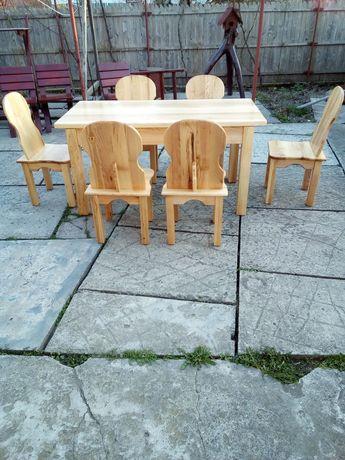 Set masa si scaune frasin